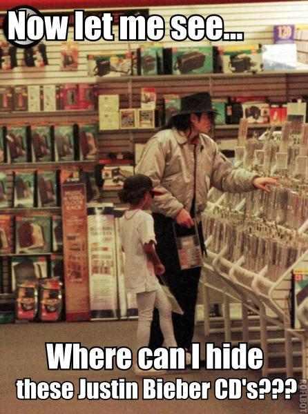 Michael Jackson Bieber CD's Meme