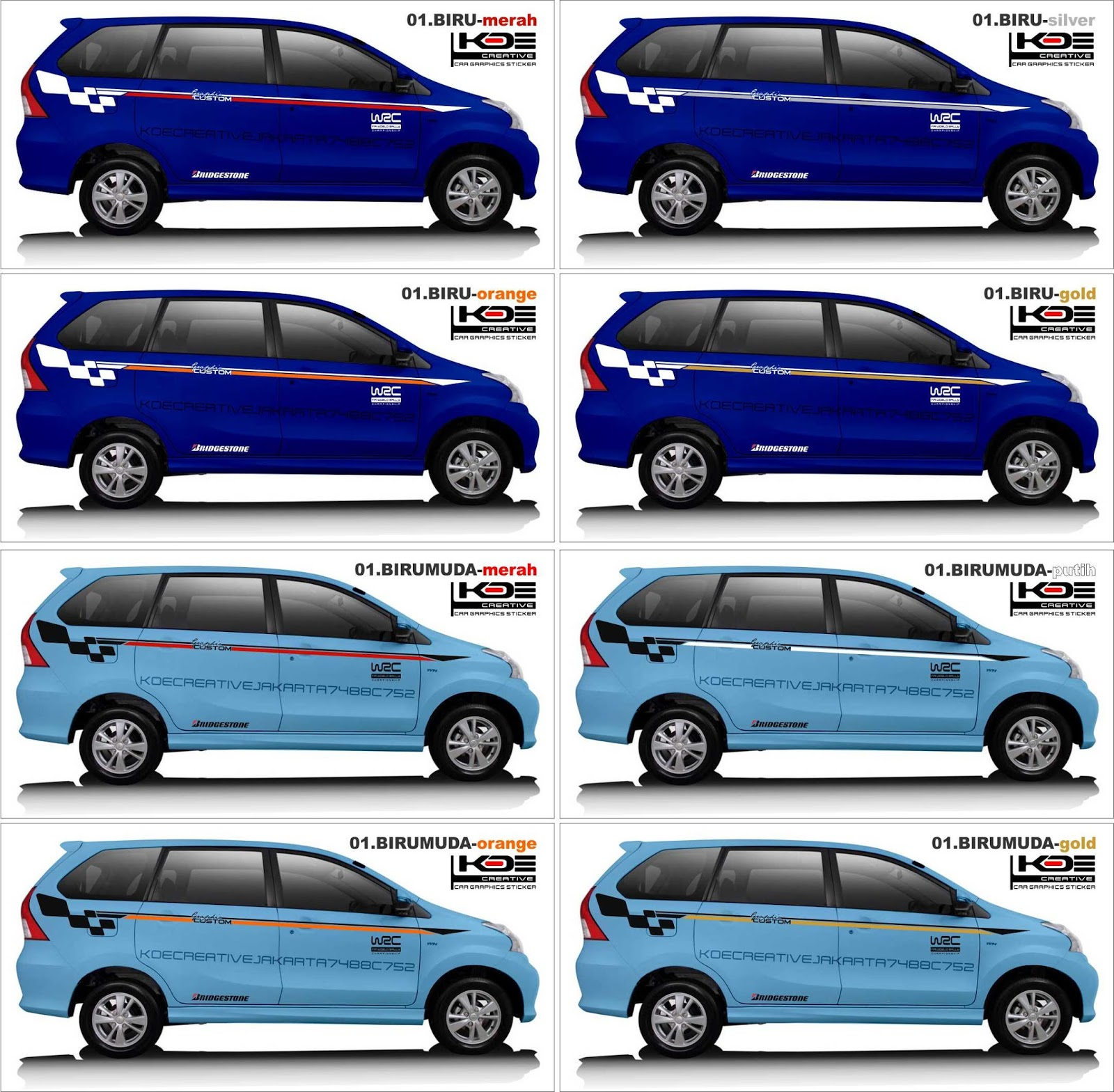 Stiker Mobil Daihatsu Xenia Toyota Avanza Terbaru Stiker Cutting Mobil Xenia Avanza Lazada Indonesia