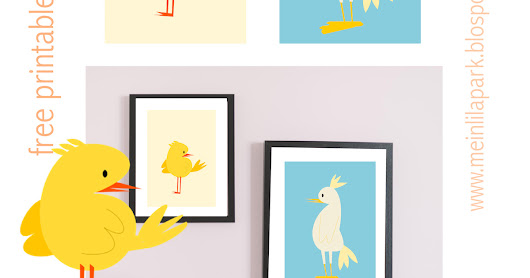 Free printable nursery wall art : baby chicken - Kinderposter