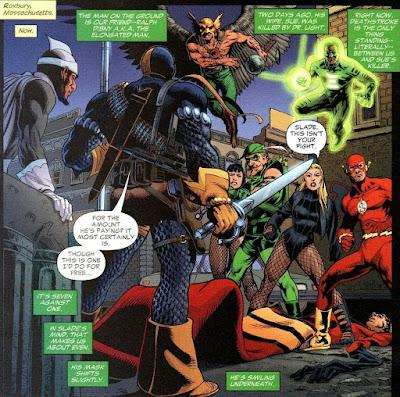 Deathstroke vs JLA