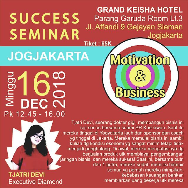 Yuuk Hadiri Seminar Motivasi Bisnis Bersama di Grand Keisha Hotel
