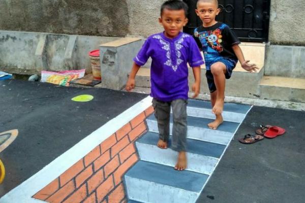 Salah Satu Kampung di Depok Dijuluki Dengan Kampung 3D. Begini Foto-Foto kerennya