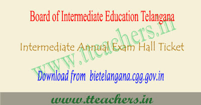 TS inter hall tickets 2019, telangana 1st 2nd year hall ticket download
