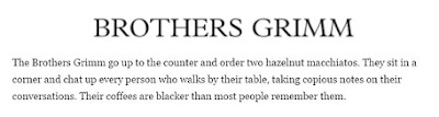 brothers grimm literary starbucks quote