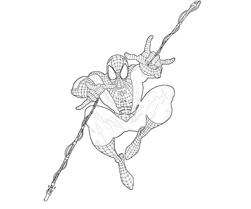 marvel ultimate spiderman coloring pages   Marvel Ultimate Alliance 2 Spider Man Funny   Mario