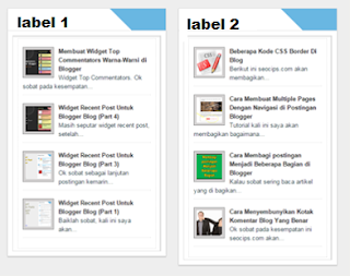 recent post widget for blogger with thumbnails
