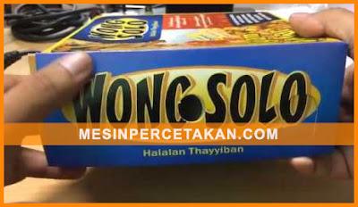 Kemasan makanan ayam bakar Wong Solo