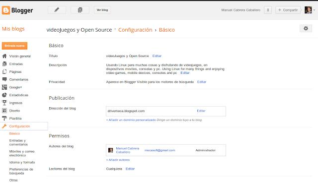 DriveMeca instalando dominio propio en Blogger paso a paso