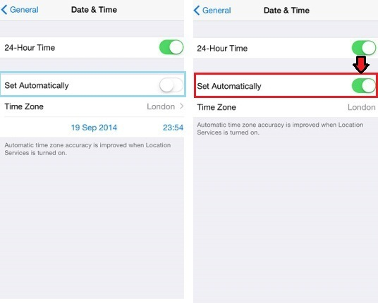Set Automatically iPhone On