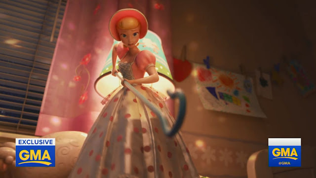 Bo Peep lowering her crook in Toy Story 4 clip