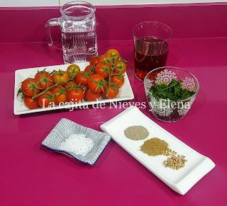 Ingredientes Tomates encurtidos