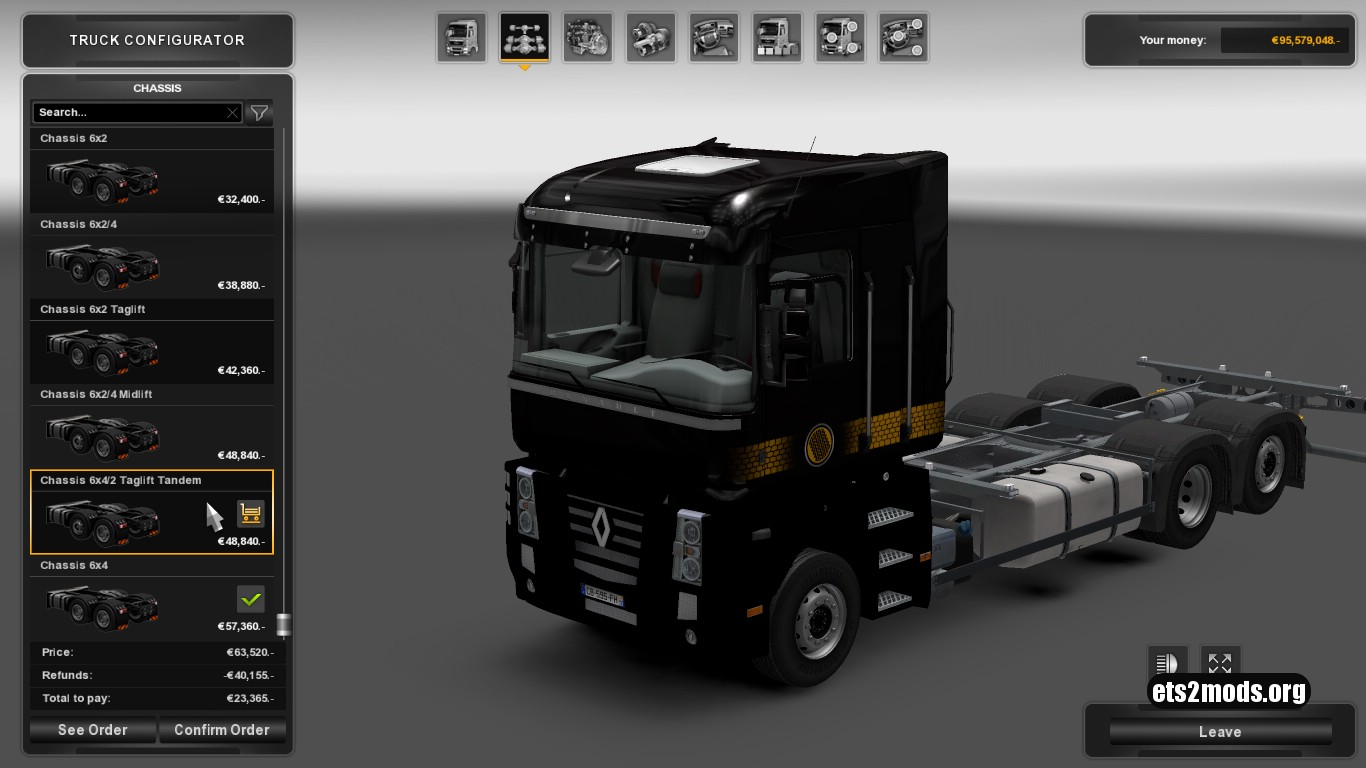 Container Platform For Renault Magnum