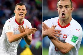 Granit Xhaka and Xherdan Shaqiri face two match bans for goal celebrations against Serbia