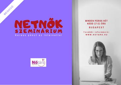 Netnők Szeminárium: Keress pénzt az internettel