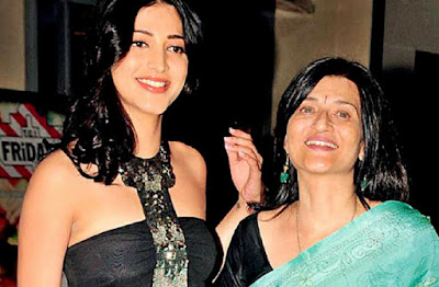 Shruti Hassan and Sarika Hassan  Bollywood celebrities