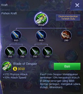 Item ke enam build Martis Mobile Legend Burst Damage