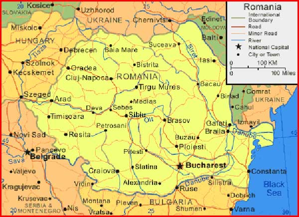 image: Romania Map High Resolution