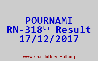 POURNAMI Lottery RN 318 Results 17-12-2017