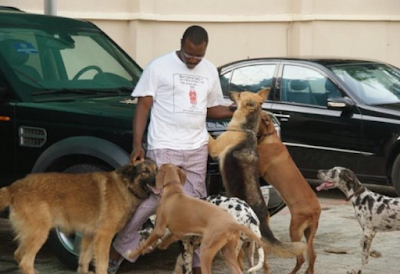 Comedian Alibaba Shows Off His Dogs Named After OBJ, Abacha, IBB, Obama & Others