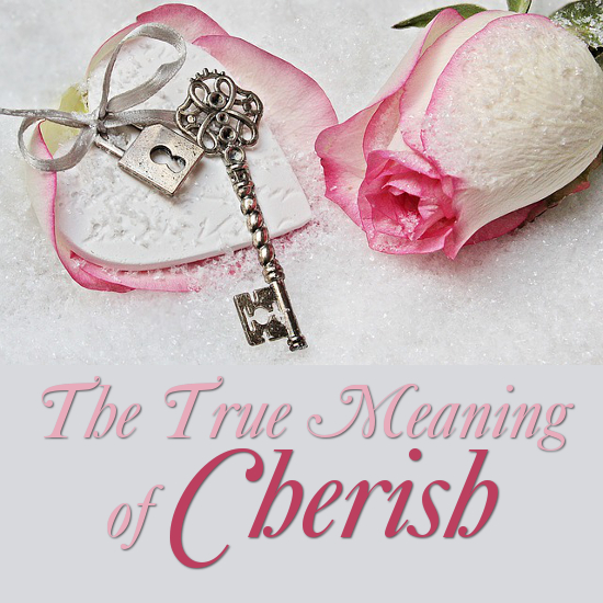 What is the Symbolism and Meaning of the Word Cherish Love Treasure Adore Valentine's Day
