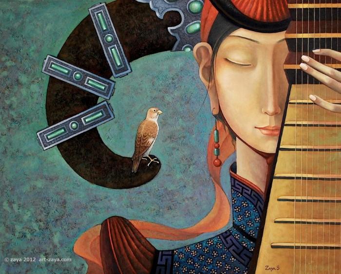 Монгольский художник. Заясайхан Самбуу 14
