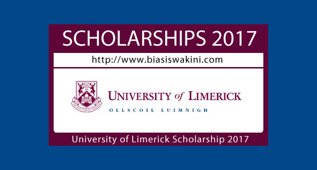 University Of Limerick Scholarship 2017