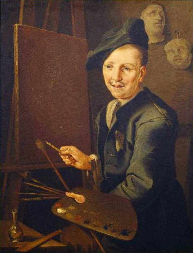 Giacomo Francesco Cipper, Self Portrait, Portraits of Painters, Fine arts, Portraits of painters blog, Paintings of Giacomo Francesco, Painter Giacomo Francesco