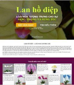Landingpage blogspot bán hàng Hoa Lan
