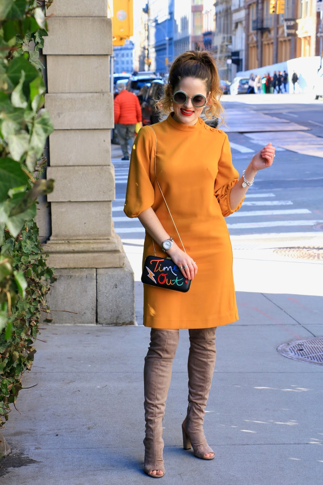 Nyc fashion blogger Kathleen Harper's spring dress