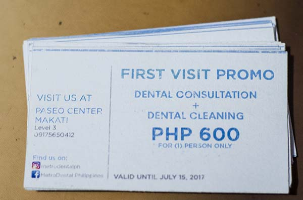 MetroDental promo card