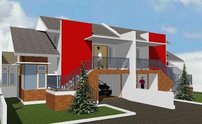 Desain rumah tidak bertingkat tipe 100