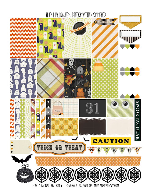 Free Printable Reformatted Halloween Sampler for the Happy Planner on myplannerenvy.com