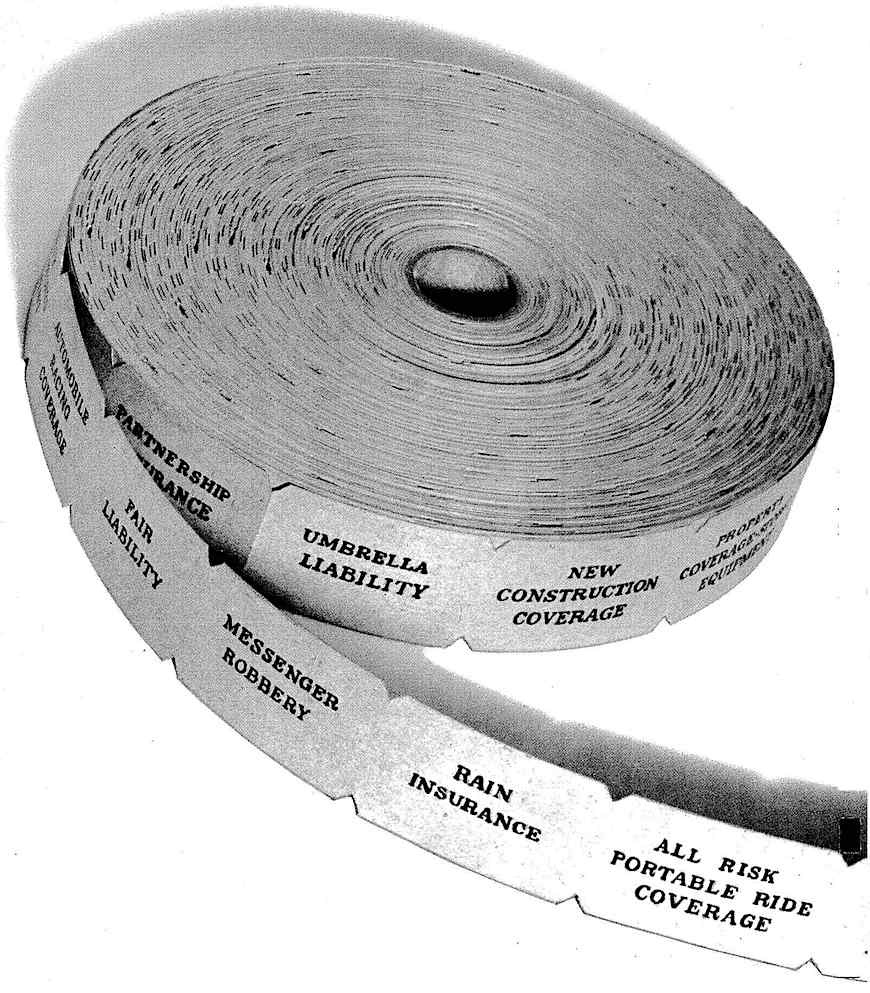 1972 ticket roll, a photograph
