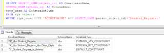 List all CONSTRAINT of database