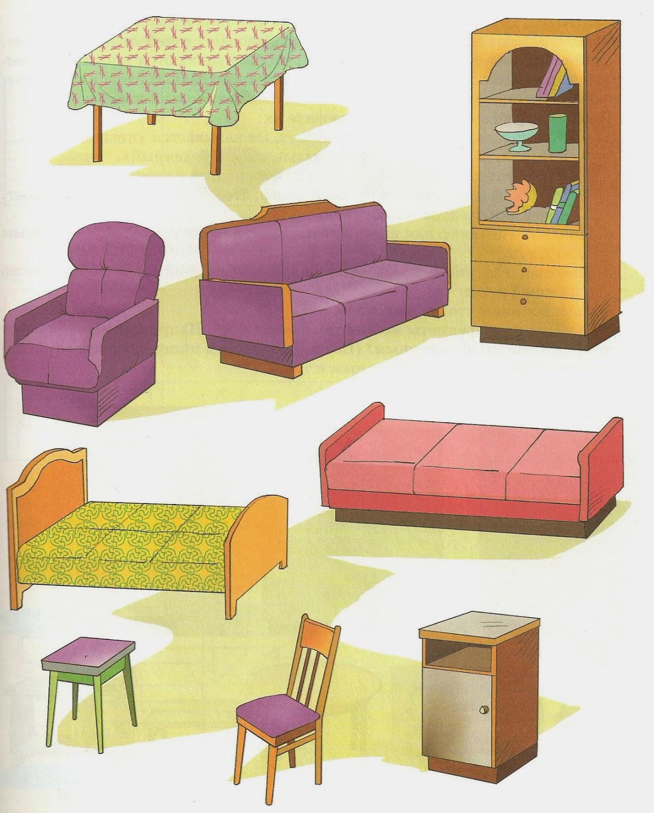 Лексическая тема мебель в картинках
