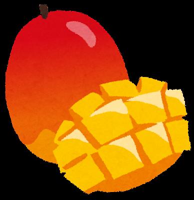マンゴーのイラスト(フルーツ)