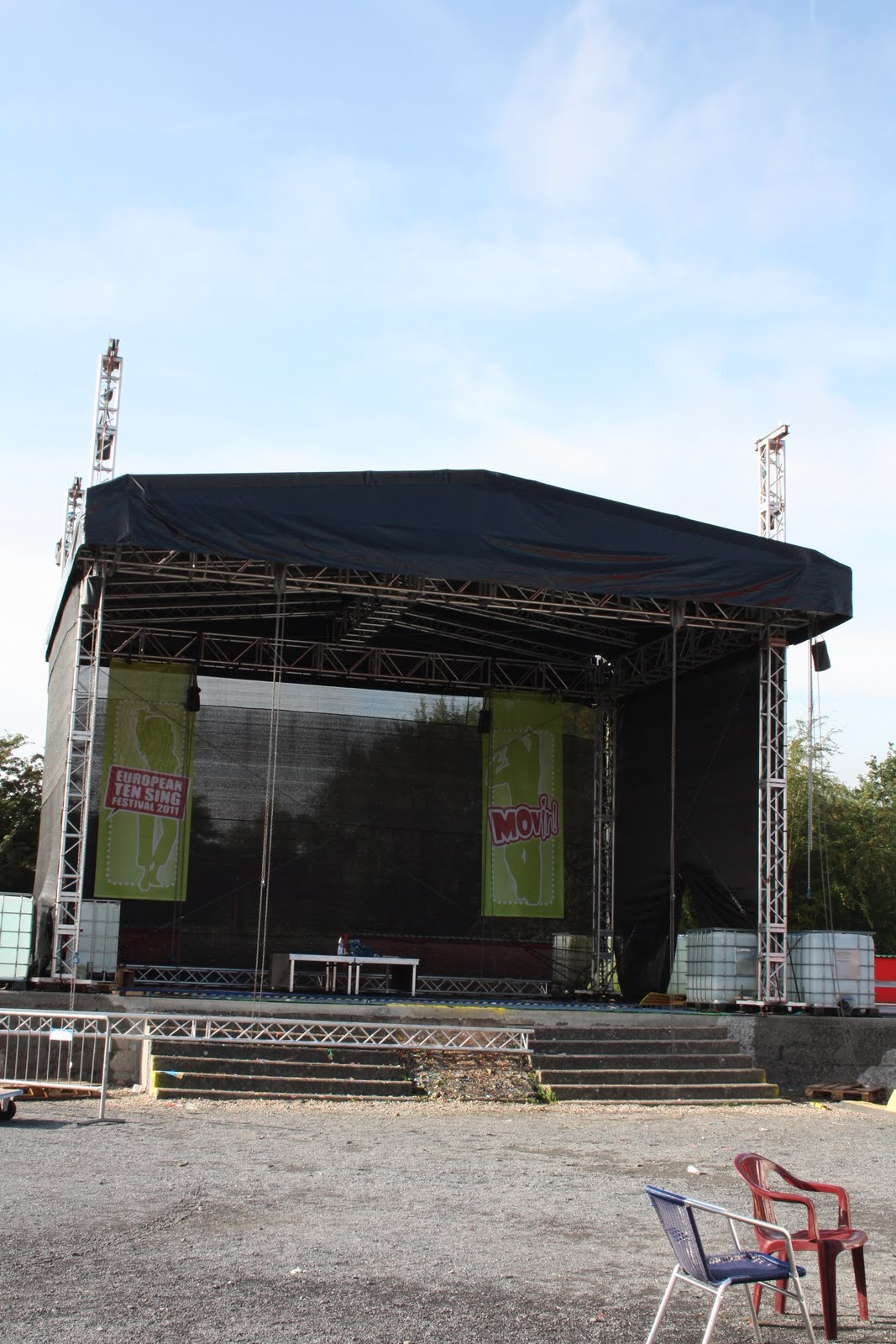 Empty Outdoor Stage The Outside Concert Stageempty