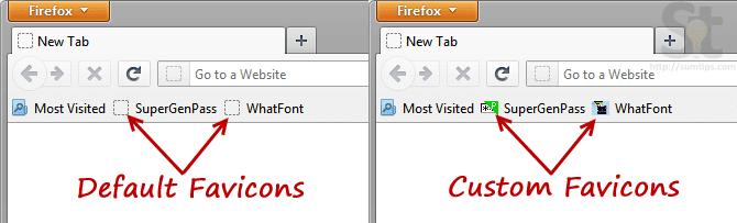 Add Favicon to JavaScript Bookmarklet in Firefox | SumTips