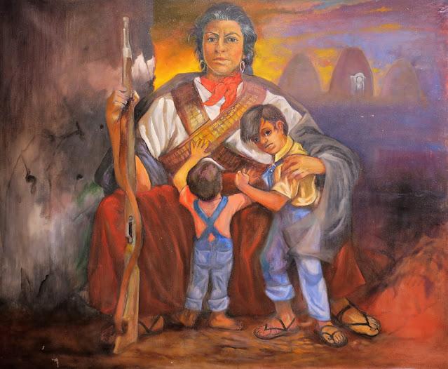 """Carlos Flores, """"Refogios,"""" exhibited at the Chamizal, El Paso, Texas. October 2016."""