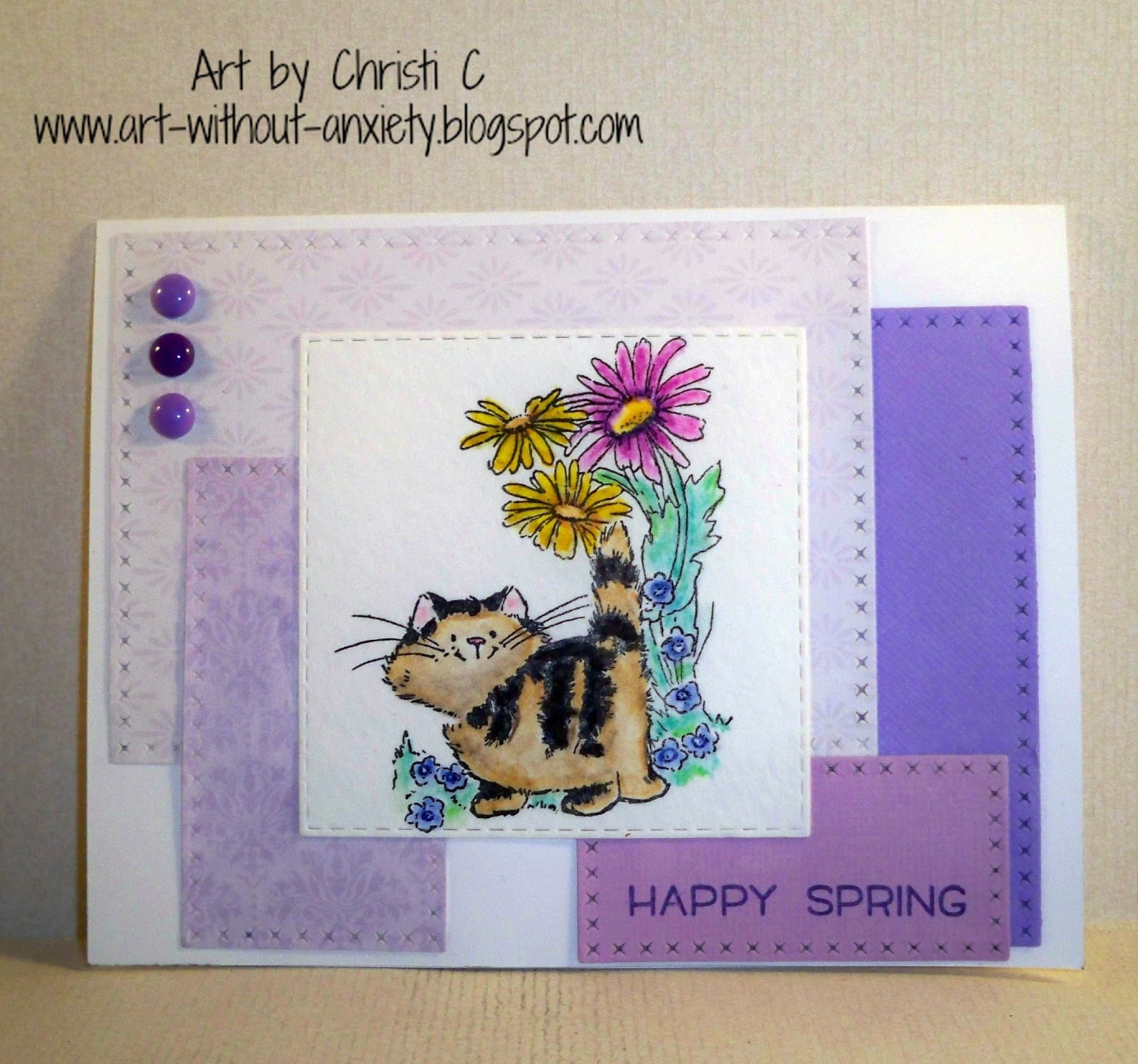 New Penny Black PURRFECT DAY Clear Stamps Cat Kitty Flowers Balloon Flower B-day