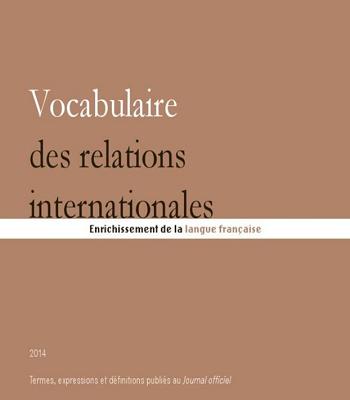 Vocabulaire des relations internationales PDF