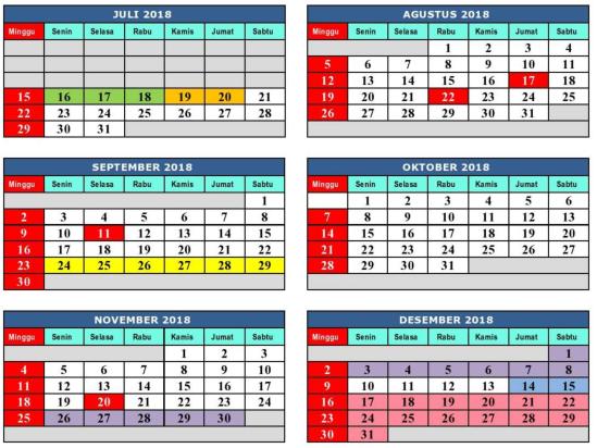 kalender pendidikan sd smp sma smk tahun 2018 2019