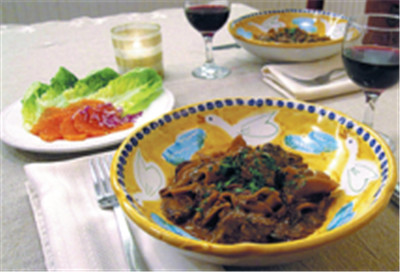 The Amped-up Beef Stroganoff, a one-pot noodle dish by Sara Moulton.