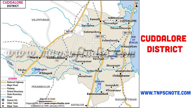 Cuddalore District Information, Boundaries and History from Shankar IAS Academy