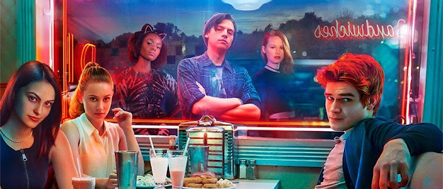 Riverdale Poster - features actors sitting in a dinner