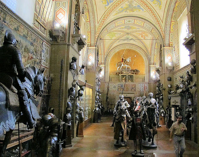 Elaborate collections of European armour fill many grand halls of the Stibbert Museum in Florence. Photo: WikiMedia.org.