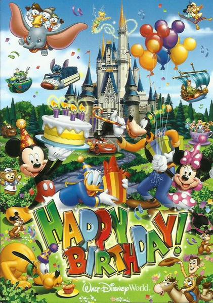 Cartão de aniversário Chef Mickey's