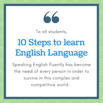 10 Steps to Learn English Language