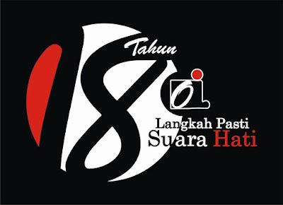 logo resmi HUT Ormas Oi ke-18