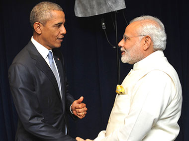 Among the foreign policy successes Modi can legitimately claim is the personal rapport he has built with US President Obama.   The sentiments are reciprocated and Obama also counts friendship with Modi as a foreign policy success.   A ten-minute introductory video of Barack Obama played at Democratic National Convention in Philadelphia on Wednesday gives a fleeting glimpse of him and Modi, in the hug mode.